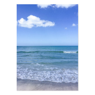 Beach Water Blue Sky White Clouds Background Ocean Pack Of Chubby Business Cards