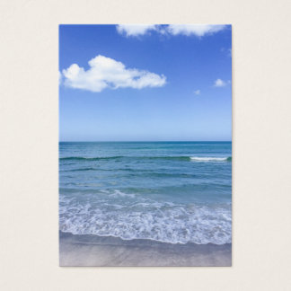 Beach Water Blue Sky White Clouds Background Ocean Business Card