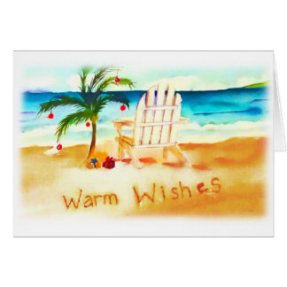 Beach Watercolor Christmas Card