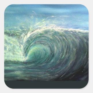 beach wave,green room,rip curl square sticker