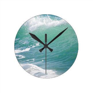 Beach Wave Round Clock