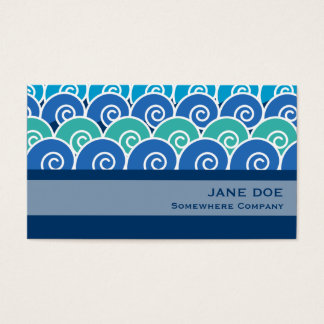 Beach Waves Blue Business Card
