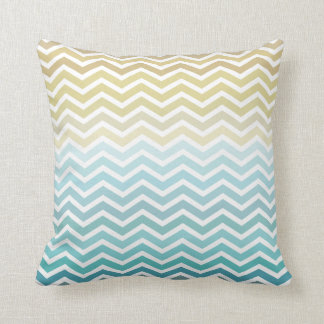 Beach Waves Chevron Zigzag Pillow