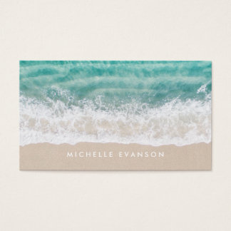 Beach Waves Professional Surf Swim Instructor Business Card