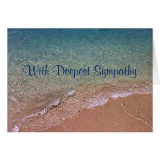 Beach Waves Sympathy Card