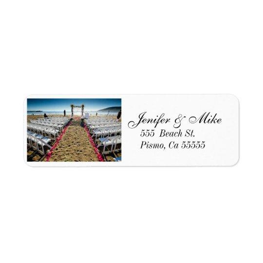 beach wedding address lables return address label