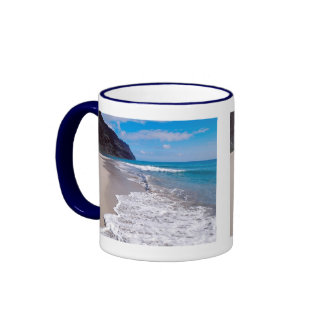 Beach Wedding Backdrop Ringer Mug
