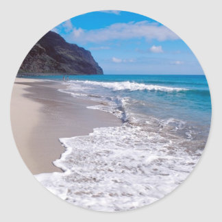 Beach Wedding Backdrop Round Sticker