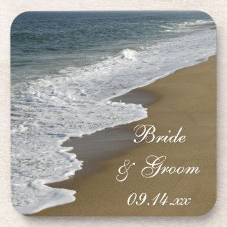 Beach Wedding Beverage Coasters