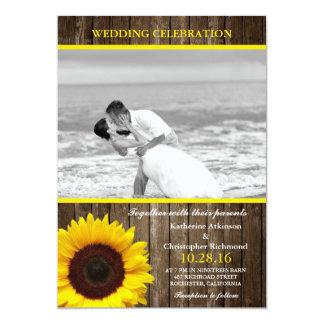 Beach wedding black and white kiss card
