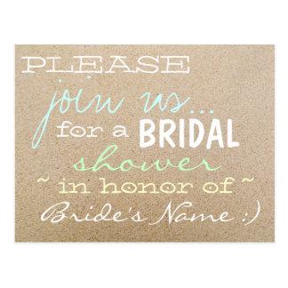 Beach Wedding/Bridal Shower Invitations in Sand