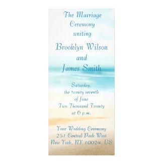 Beach Wedding Ceremony Programs Custom Rack Cards