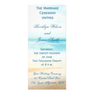 Beach Wedding Ceremony Programs Personalised Rack Card