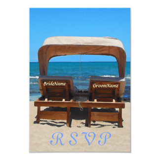 Beach Wedding Chairs in Sand Card