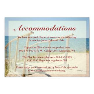 Beach Wedding Enclosure Cards - Beach Staircase