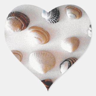 Beach wedding envelope sealers | Heart stickers