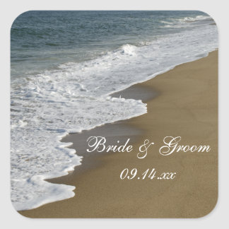 Beach Wedding Envelope Seals
