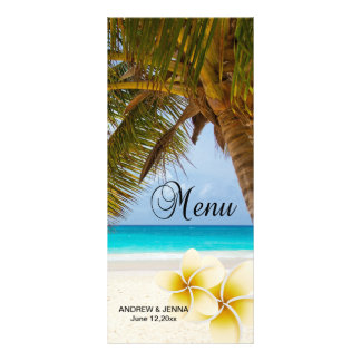 Beach Wedding for the Mr & Mrs | Personalize Rack Card Design