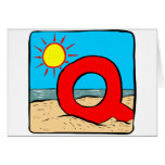 Beach Wedding Ideas Letter Q Greeting Card