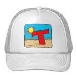 Beach Wedding Ideas Letter T Trucker Hat