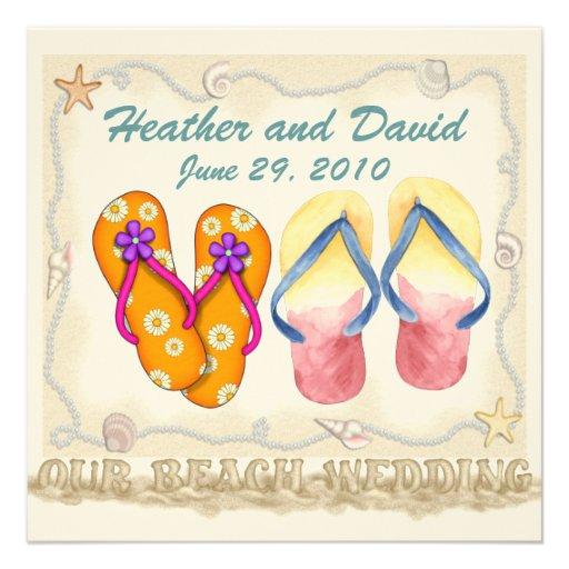 Beach Wedding Custom Announcement