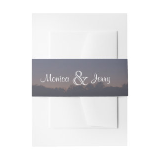 Beach Wedding Invitation Belly Band