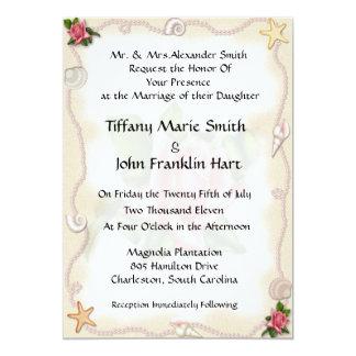 "Beach Wedding Invitations 5"" X 7"" Invitation Card"