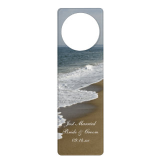Beach Wedding Just Married Wedding Door Hanger
