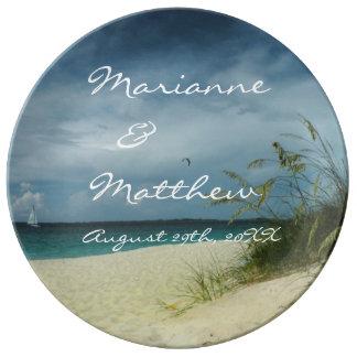 Beach Wedding Keepsake Porcelain Porcelain Plates
