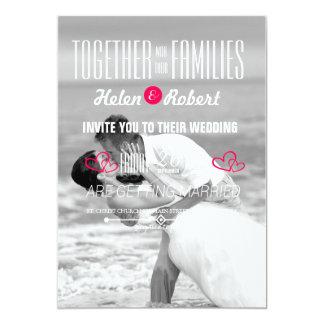 Beach wedding kiss card