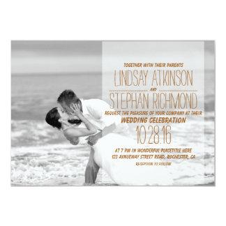 Beach wedding kiss/Wedding Invitation