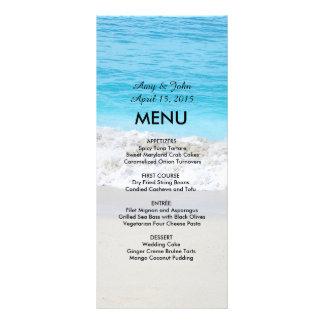 Beach wedding menu beach1 rack card design