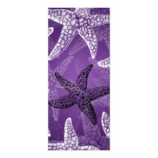 Beach Wedding  Menu Starfish Purple Card