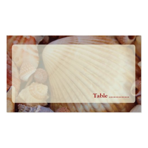 Beach Wedding Multicolored Seashell Place Cards Business Card