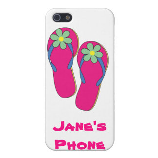 Beach Wedding Phone Cases: Flip Flop Design Cover For iPhone 5/5S