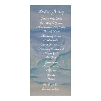 BEACH WEDDING PROGRAM FULL COLOR RACK CARD