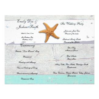 Beach Wedding Program Template Agenda Flyer