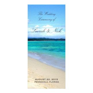 Beach Wedding Program Template Custom Rack Cards