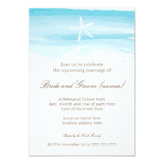 Beach Wedding Rehearsal Dinner ı Starfish & Sea Card