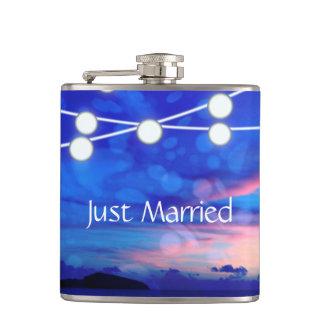 Beach Wedding Romance Glowing Lights Flasks