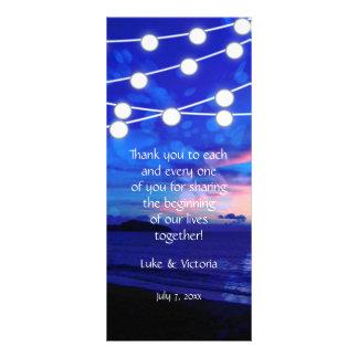 Beach Wedding Romance Glowing Lights Full Color Rack Card