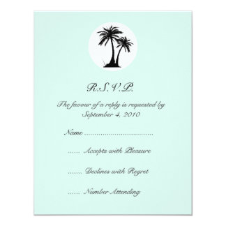 Beach Wedding RSVP 11 Cm X 14 Cm Invitation Card