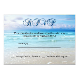 Beach Wedding RSVP Invitation