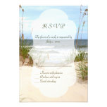 Beach Wedding RSVP's Custom Announcement