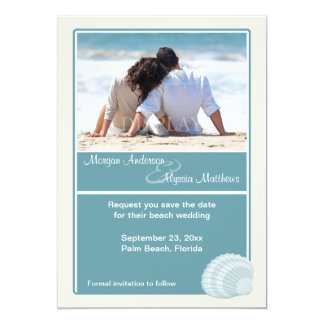 Beach Wedding Save the Date Announcement