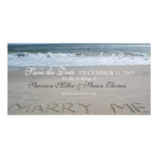 Beach Wedding Save the Date Announcement Photo Cards