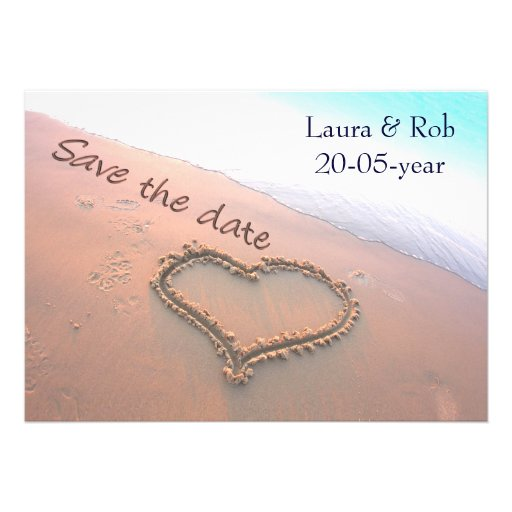 beach wedding Save the date Personalized Announcement