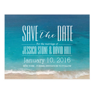 Beach Wedding Save the Date Postcard