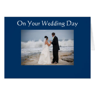 BEACH WEDDING SCENE WEDDING CARD