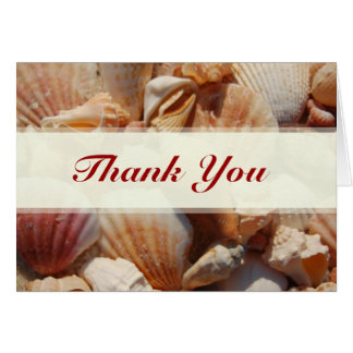 Beach Wedding Sea Shell Thank You Cards